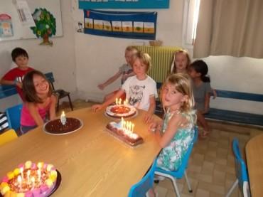 Angelo, Marie, Loli et Ambre ont fêté leur anniversaire :