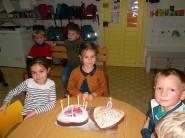 Annah, Louis, Océane et Nell ont fêté leur annniversaire à l'école !