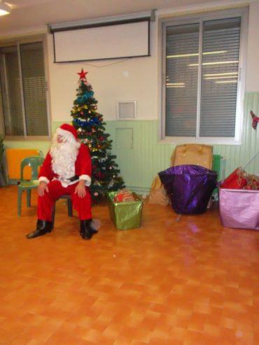La visite du Père Noël à l'école